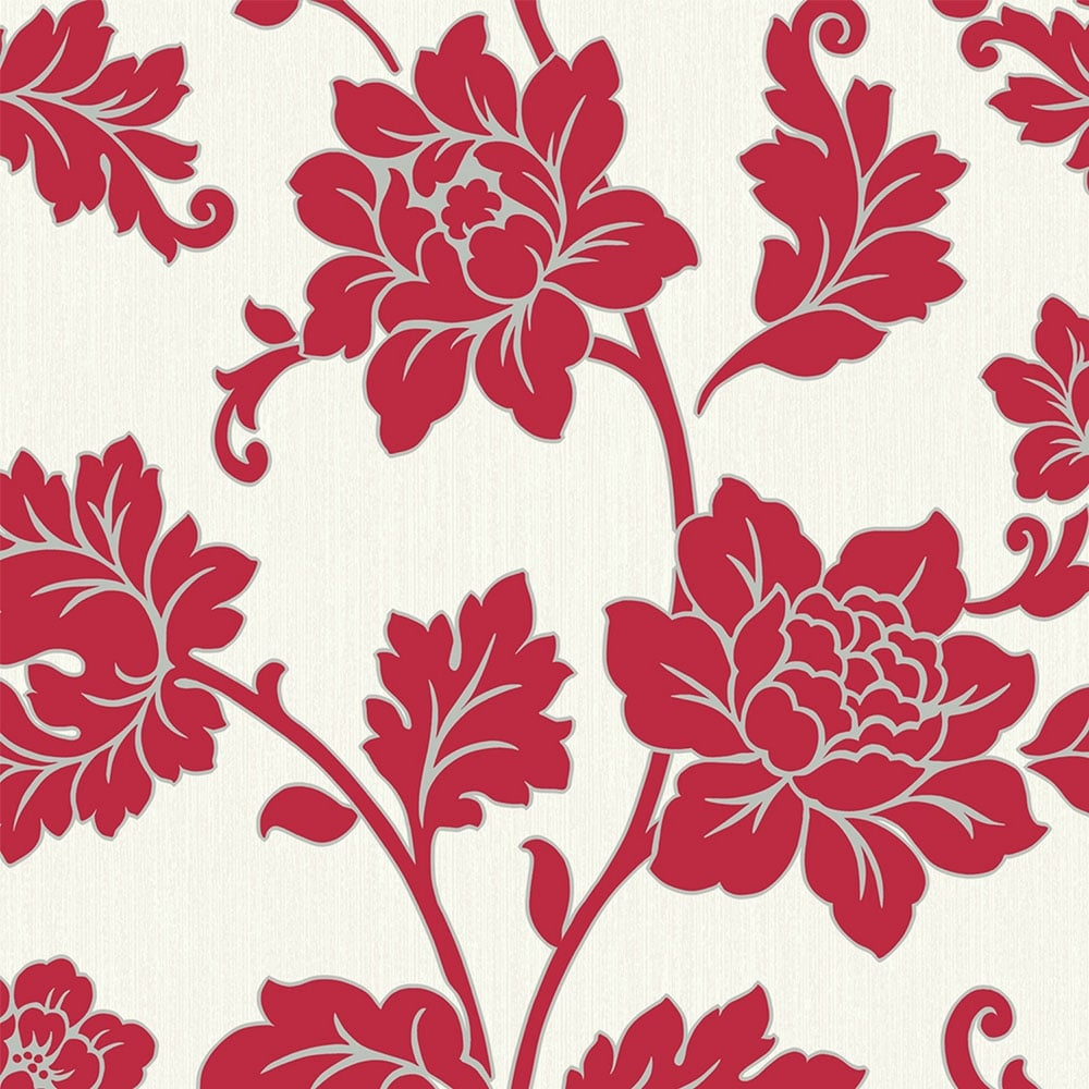 Arthouse Anya Motif Floral Wallpaper Red 886104