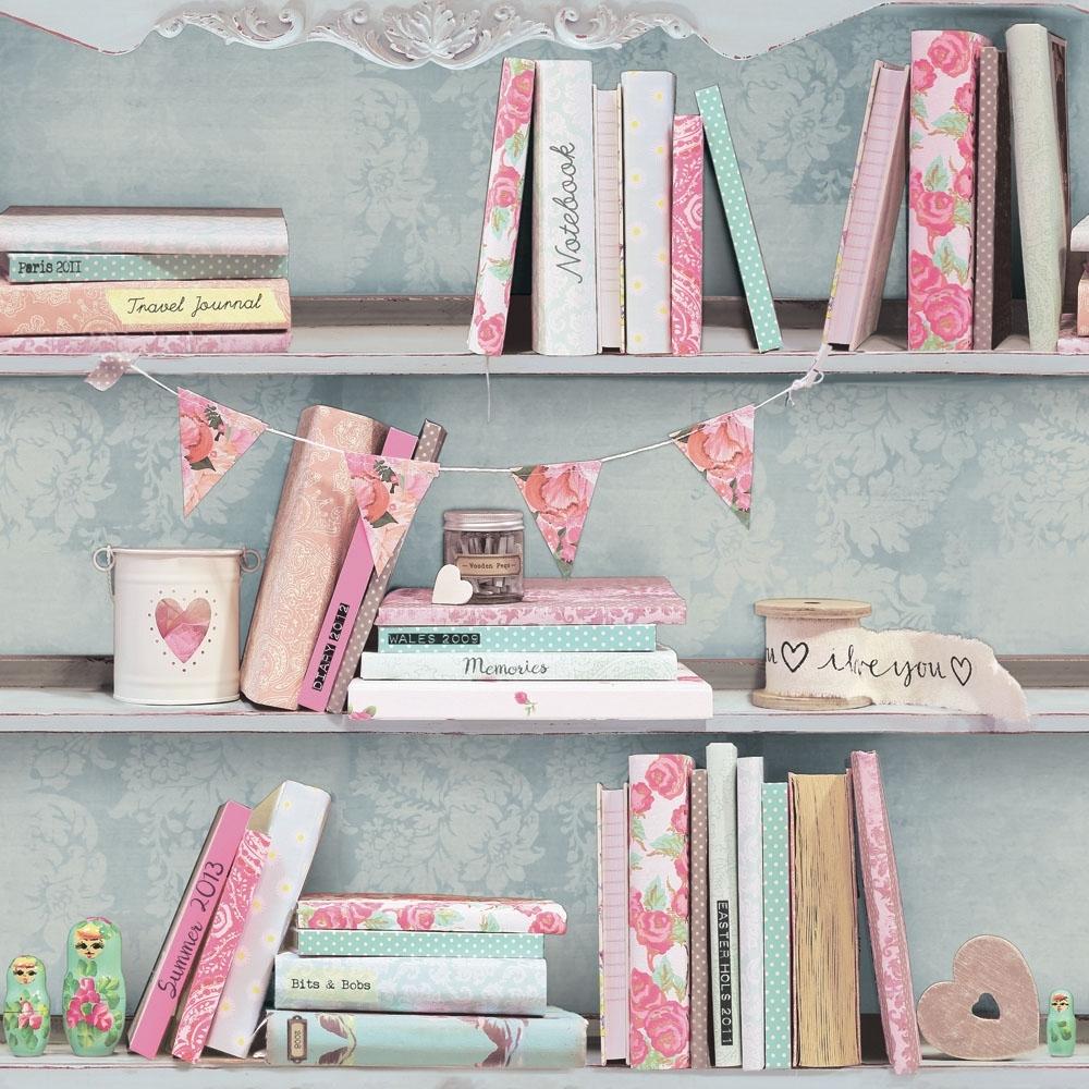 Opera Curious Bookcase Wallpaper Multicoloured 694000