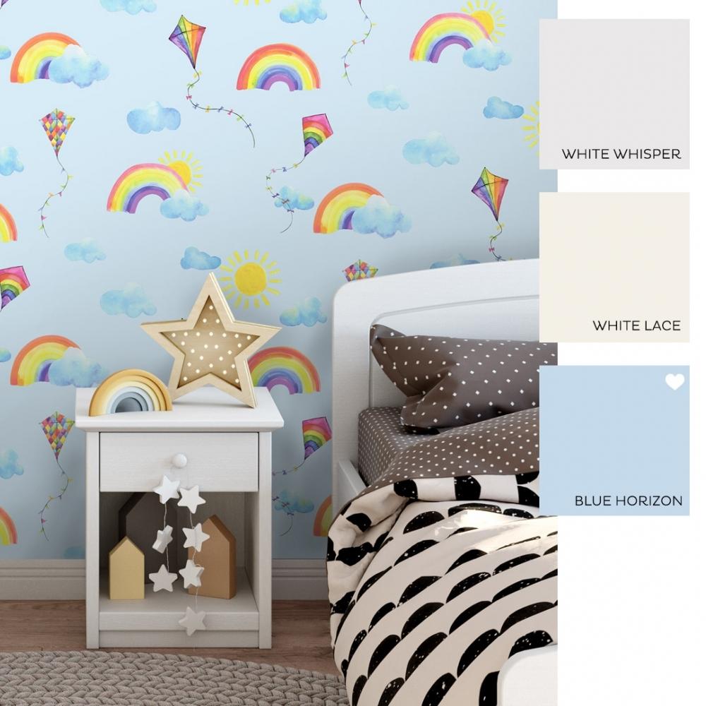 I Love Wallpaper Best Day Ever Childrens Wallpaper Blue Multicoloured