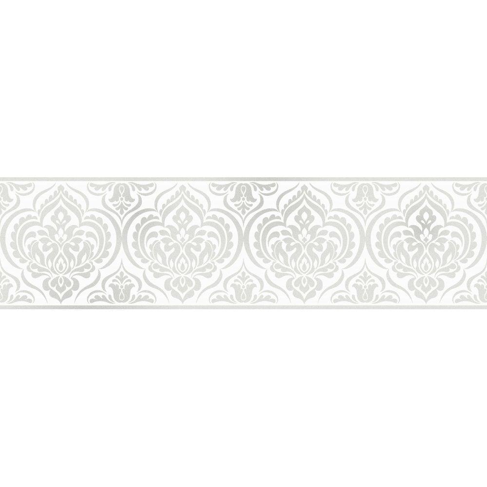 White Wallpaper Border Wallpaper Ideas