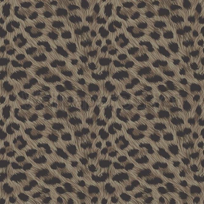 Fine Decor Furs Leopard Animal Print Wallpaper Natural Brown Black Fd30684