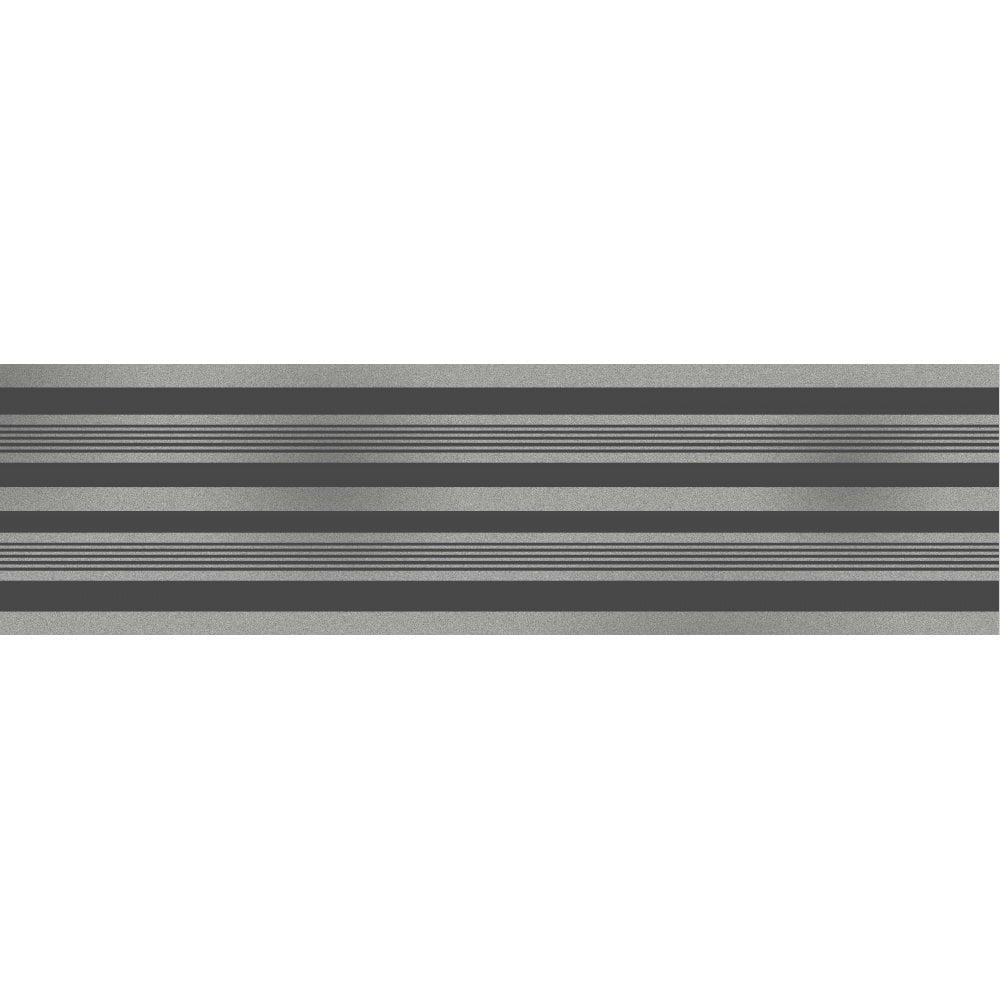 Fine Decor Glitz Stripe Glitter Wallpaper Border Black Silver Dlb50141