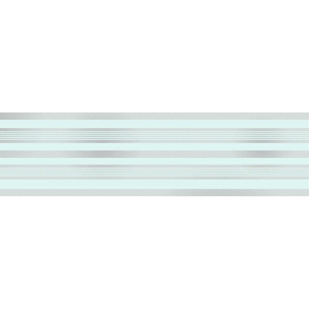 Pink /& Silver Glitter Stripes 17.5cm wide x 5m long Wallpaper Border
