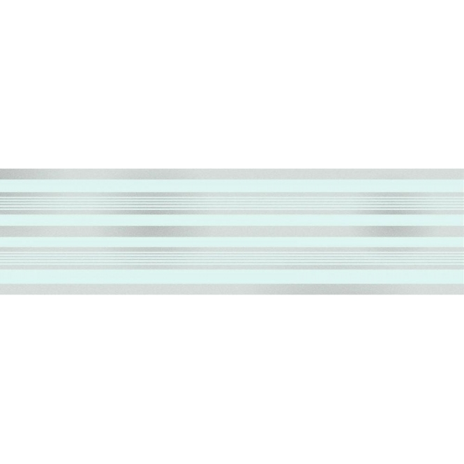 Fine Decor Glitz Striped Glitter Wallpaper Border Teal Silver