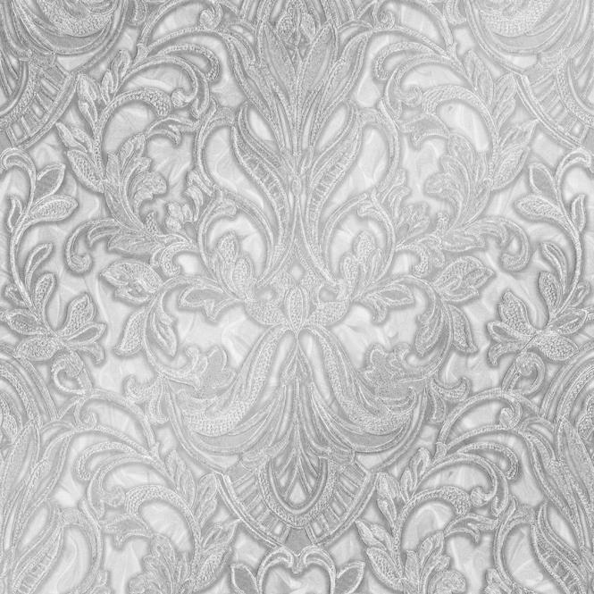 Henderson Interiors Primadonna Damask Wallpaper White Grey