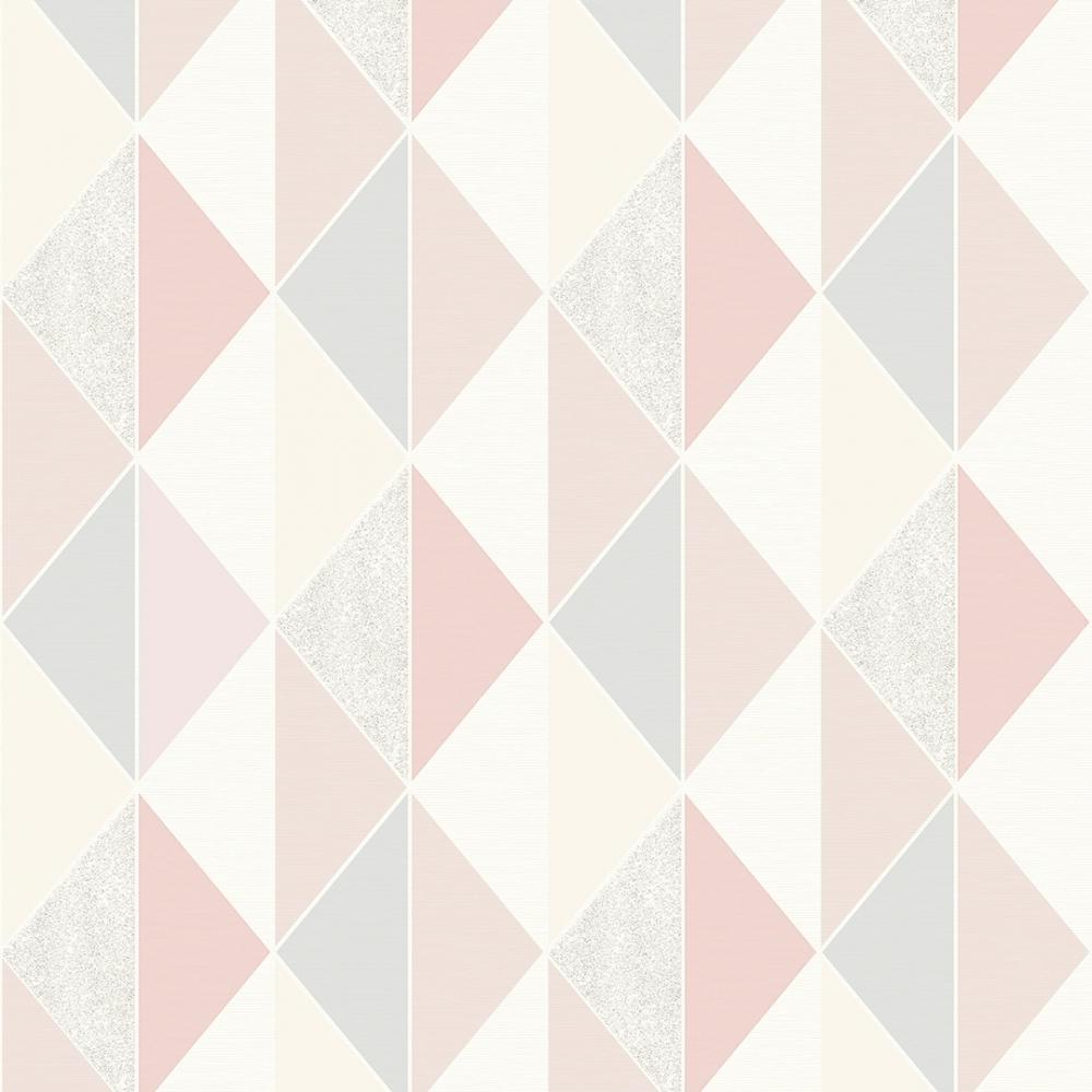 Kids Childrens Girls Wide Stripes Pink White Rasch Portfolio Wallpaper 286908